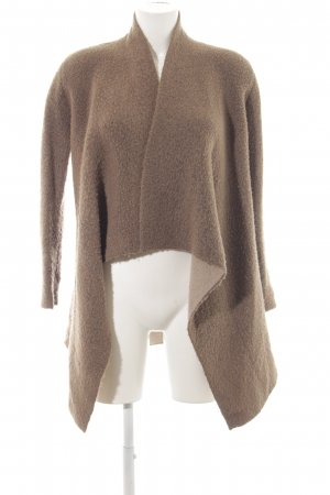 Zara Knit Cardigan graubraun Casual-Look