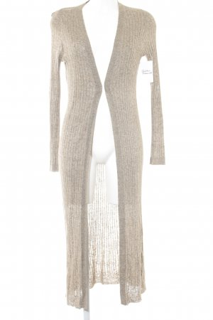 Zara Knit Cardigan grüngrau meliert College-Look