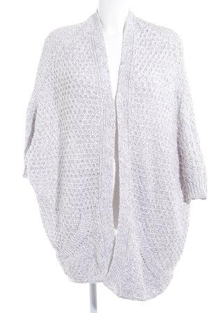 Zara Knit Cardigan gris clair-argenté motif tricoté lâche style décontracté