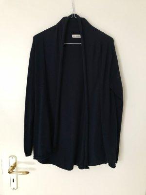 Zara Knit Cardigan Schalkragen dunkelblau L Baumwolle