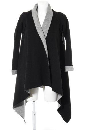Zara Knit Cardigan schwarz-grau meliert Casual-Look