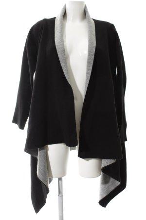 Zara Knit Cardigan schwarz-hellgrau Casual-Look