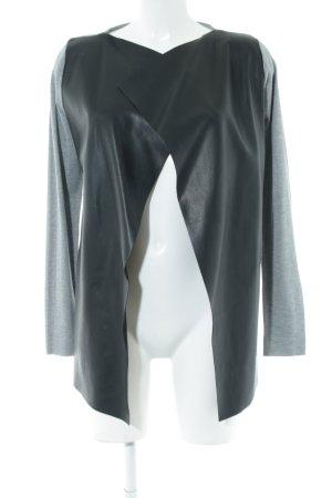 Zara Knit Cardigan nero-grigio chiaro stile casual