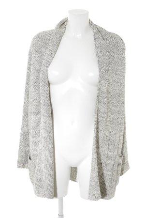Zara Knit Cardigan schwarz-weiß meliert Casual-Look