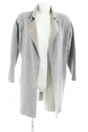 Zara Knit Cardigan silberfarben-beige Casual-Look
