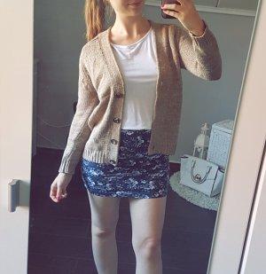 Zara Knit Cardigan Strick braun meliert hellbraun Jacke