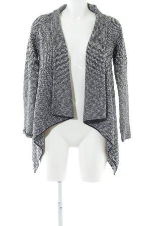 Zara Knit Cardigan wollweiß-schwarz Hahnentrittmuster Casual-Look
