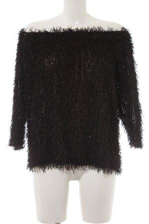 Zara Knit Blusa alla Carmen nero stile festa