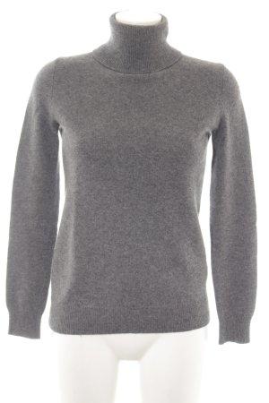Zara Knit Sudadera de cachemir gris claro look casual