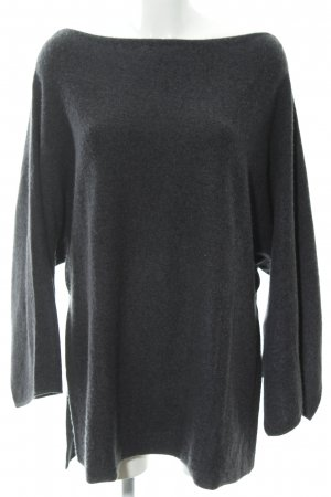 Zara Knit Cashmerepullover anthrazit Casual-Look