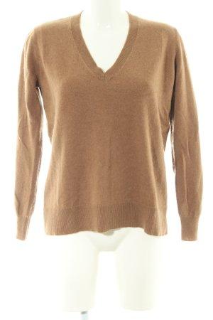 Zara Knit Cashmerepullover bronzefarben Business-Look