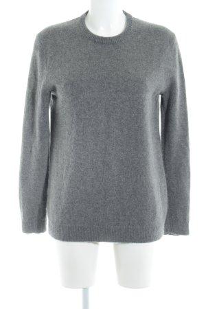 Zara Knit Sudadera de cachemir gris look casual