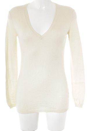 Zara Knit Pull en cashemire jaune clair style décontracté