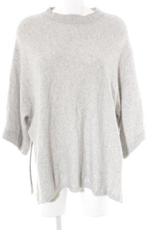 Zara Knit Cashmerepullover hellgrau Casual-Look
