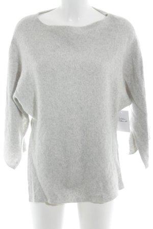 Zara Knit Pull en cashemire gris clair moucheté style décontracté