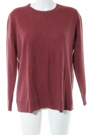 Zara Knit Cashmere Jumper red flecked casual look