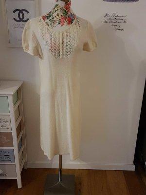 zara knit cremefarbenes Kleid