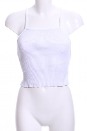 Zara Knit Cropped Top white casual look