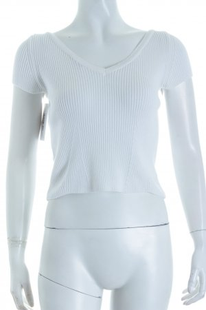 Zara Knit Cropped Top weiß Casual-Look
