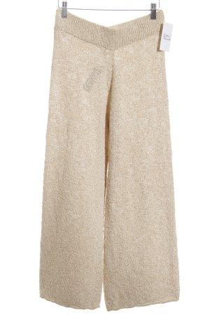 Zara Knit Culottes beige meliert Casual-Look