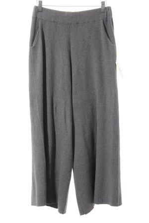 Zara Knit Falda pantalón de pernera ancha gris estilo minimalista