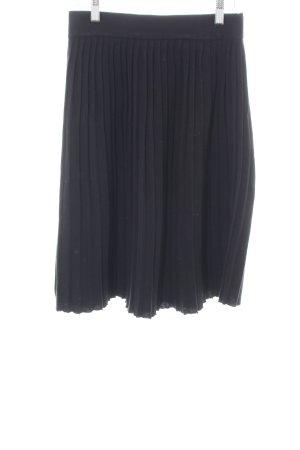 Zara Knit Falda a cuadros negro estilo «business»