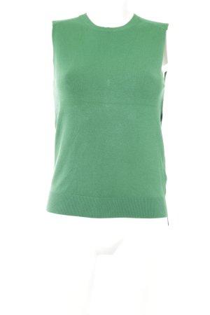 Zara Knit Fijn gebreide cardigan groen casual uitstraling