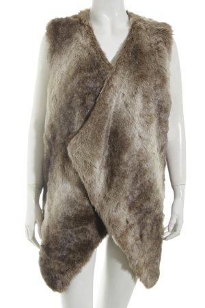 Zara Knit Fellweste grau-graubraun Farbverlauf extravaganter Stil