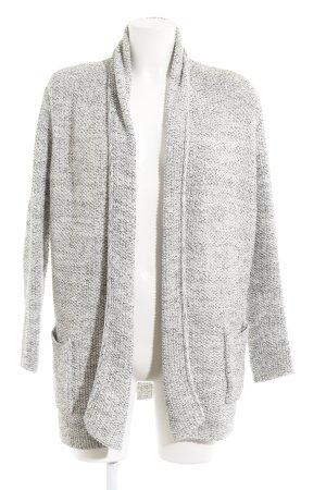 Zara Knit Grof gebreid vest antraciet-wolwit gestippeld casual uitstraling
