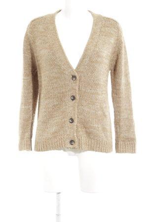 Zara Knit Cardigan a maglia grossa beige-bianco sporco stile semplice