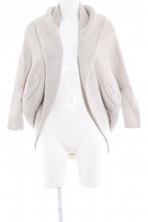 Zara Knit Coarse Knitted Jacket natural white-beige weave pattern
