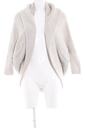 Zara Knit Grof gebreid vest wolwit-beige Webpatroon