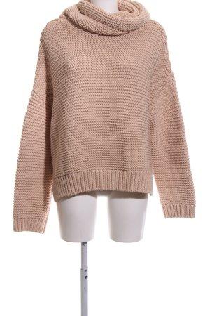 Zara Knit Coarse Knitted Sweater nude weave pattern casual look