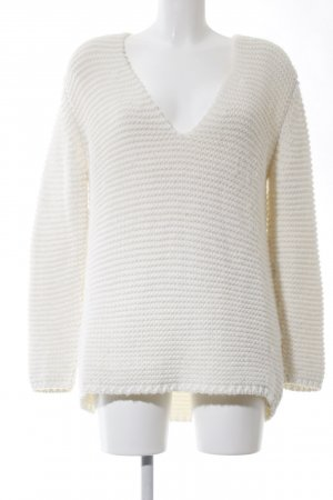 Zara Knit Coarse Knitted Sweater white casual look