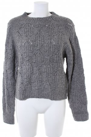 Zara Knit Grobstrickpullover grau Casual-Look