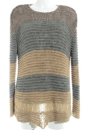 Zara Knit Grobstrickpullover Lochstrickmuster Casual-Look