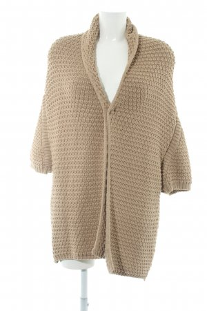 Zara Knit Cárdigan de ganchillo beige look casual
