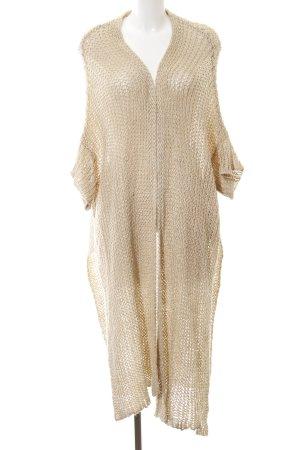Zara Knit Cardigan all'uncinetto beige chiaro stile semplice