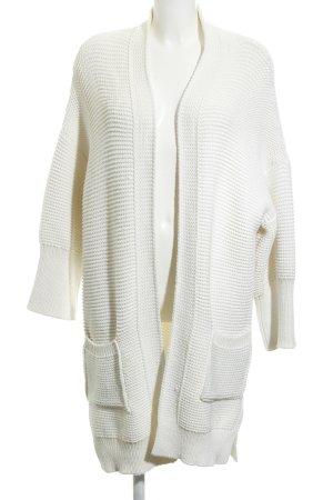 Zara Knit Cardigan all'uncinetto bianco sporco modello web soffice