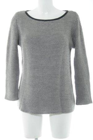 Zara Knit Häkelpullover hellgrau-schwarz schlichter Stil