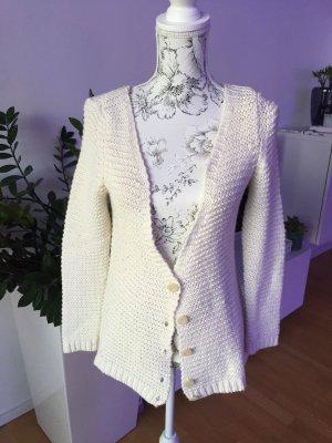 Zara Knit Jacke Cardigan Creme Gr S super Zustand