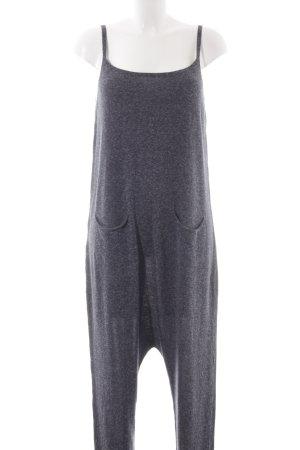 Zara Knit Combinaison gris ardoise-blanc moucheté style décontracté