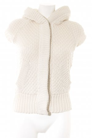 Zara Knit Capuchon vest wolwit casual uitstraling