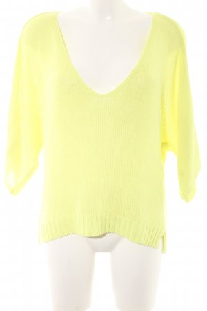 Zara Knit Kimono Sweater neon yellow casual look