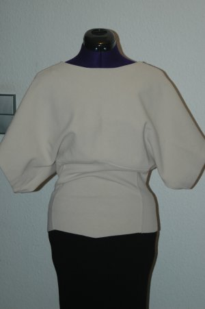 Zara Kimono Sweater natural white mixture fibre