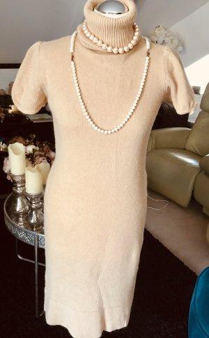Zara Knit Kleid aus Angora Wolle Gr. 36 - 38 sand beige