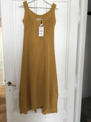 Zara Knit Kleid Limited Edition | Strickkleid | Senf-gelb | Neu mit Etikett | L