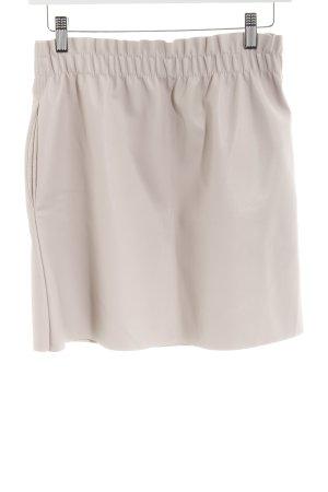 Zara Knit Jupe en cuir synthétique crème style festif