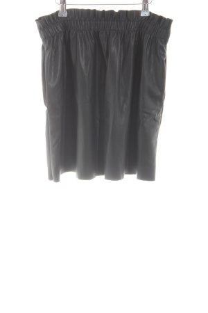Zara Knit Gonna in ecopelle nero stile casual