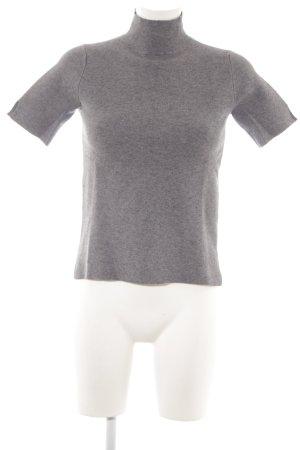Zara Knit Pull à manches courtes gris clair style décontracté